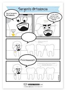 Comic-DM-Sargento-Ortodoncia-hoja-pintar